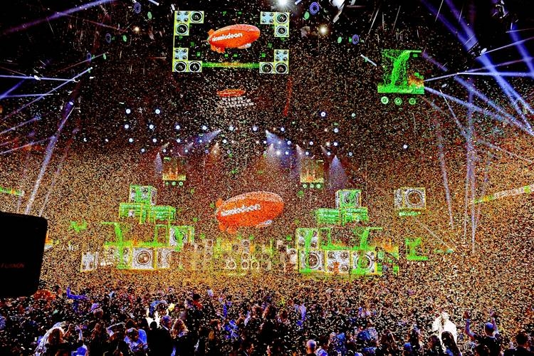 Confetti flies over the stage at Nickelodeon's 2019 Kids' Choice Awards at Galen Center on March 23, 2019 in Los Angeles, California. — AFP