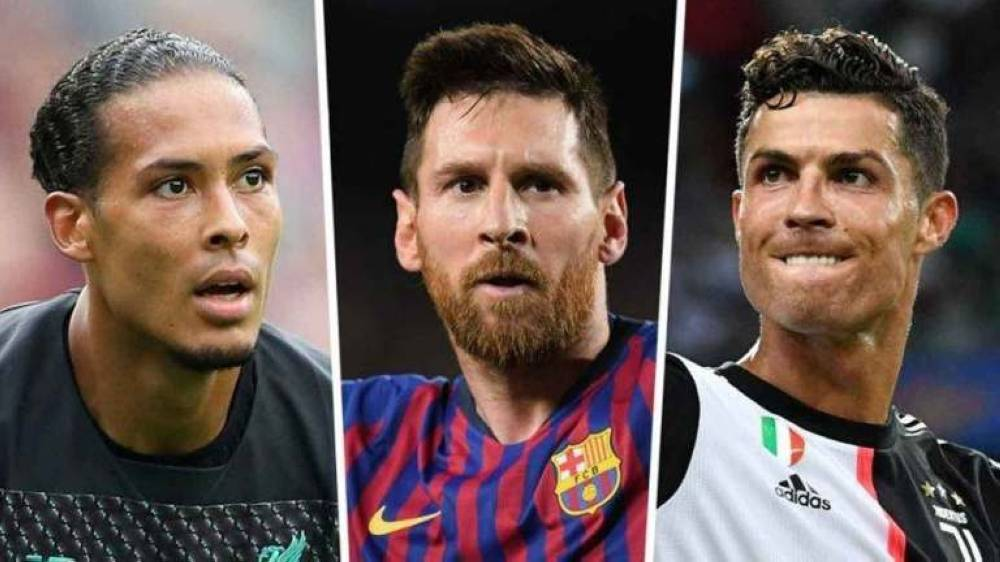 (L-R) Virgil Van Dijk, Lionel Messi and Cristiano Ronaldo are the three men's finalists for  FIFA's The Best Player award, with the winner to be announced on Monday in a star-studded ceremony in Milan's famous opera house La Scala. — Courtesy photo