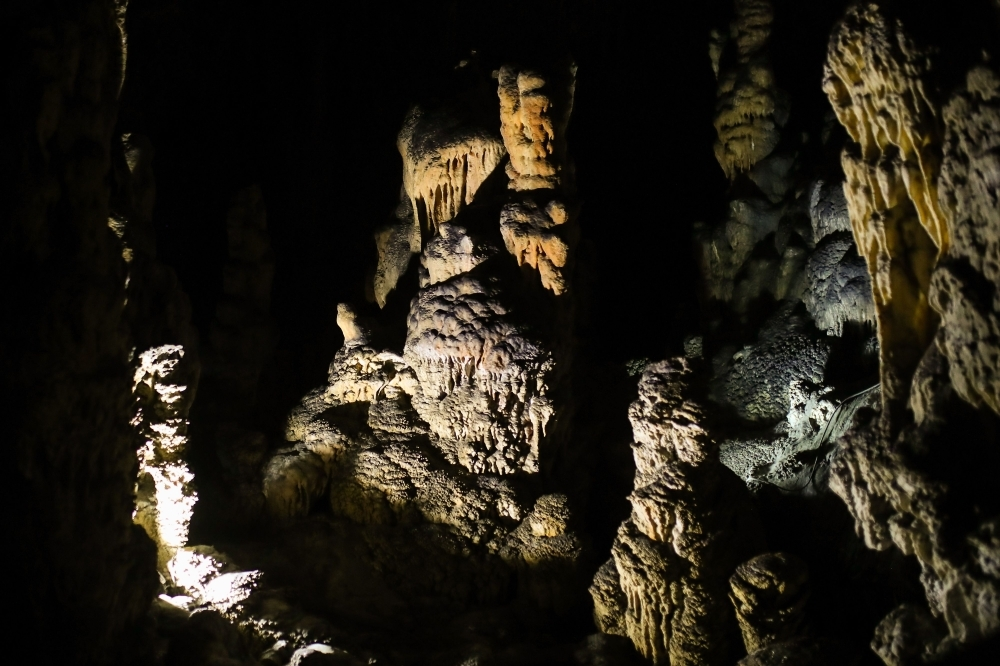 This picture taken on Sept. 26, 2019 shows a view of the Divaska cave at the end of a six-days training organized by the European Space Agency's (ESA), southern Slovenia. In Slovenia's dramatically beautiful Karst region, six astronauts have been put through their paces for future missions in deep underground in the area's network of cold, dark and muddy caves. — AFP