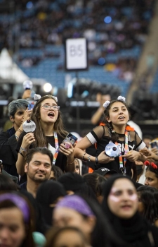 K-pop band BTS's fans sing in tune with the unique brand of pop music at the King Fahd International Stadium on Friday to launch the Riyadh Season.