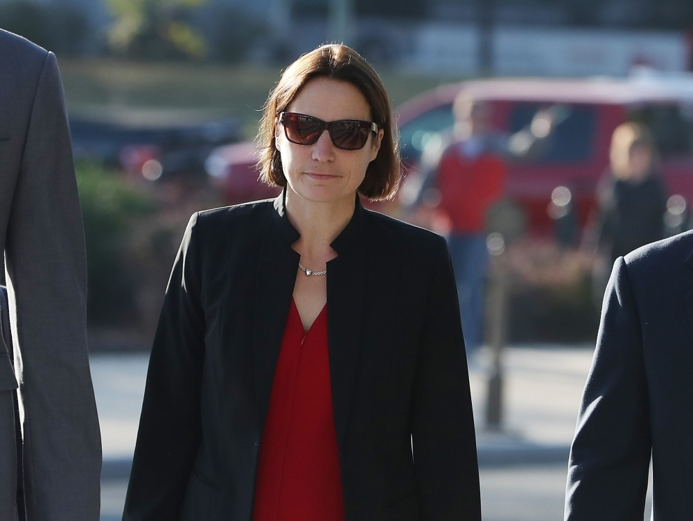 Fiona Hill, former senior director for European and Russian affairs on the National Security Council, arrives on Capitol Hill for a hearing at the US Capitol in Washington. — AFP