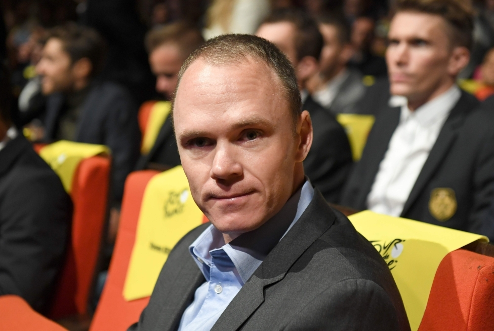 British four-time winner Chris Froome attends the official presentation of the next Tour de France 2020 cycling race in Paris, on Tuesday. — AFP