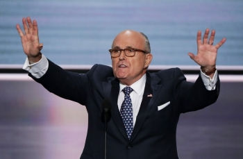 Lawyer Rudy Giuliani speaks on the first day of the Republican National Convention in Cleveland, Ohio, in this July 18, 2016 file photo. — AFP