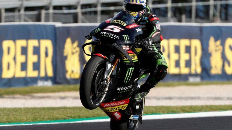 In this file photo taken on Oct. 26, 2018, Monster Yamaha Tech 3's Johann Zarco during practice during Australian Grand Prix at Phillip Island Grand Prix Circuit, Phillip Island, Australia. — Reuters