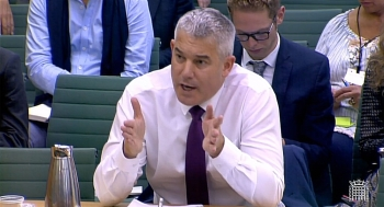 A video grab from footage broadcast by the UK Parliament's Parliamentary Recording Unit (PRU) shows Britain's Secretary of State for Exiting the European Union (Brexit Minister) Stephen Barclay speaking on the progress of the UK negotiations on EU withdrawal before the Exiting the European Union Committee in Parliament, in central London on Wednesday. — AFP
