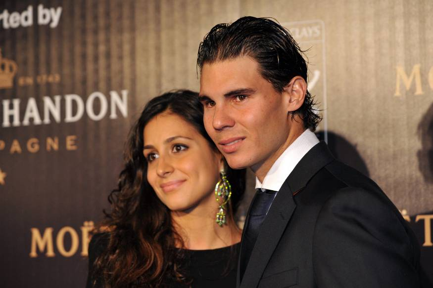 Rafael Nadal (L) and Xisco Perello. — Reuters