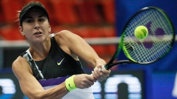 Belinda Bencic during her Kremlin Cup semifinal win over Kristina Mladenovic which booked her place at the WTA Finals. — Courtesy photo