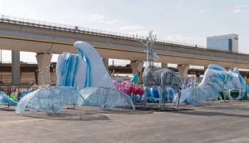 More than 300 trailers have been shipped from all over Europe to Riyadh for the English-style winter carnival. — Courtesy photo