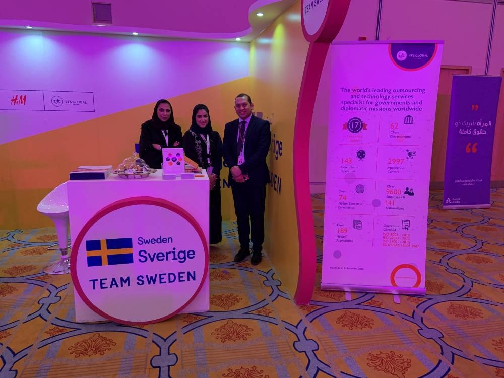 By co-participating with the Embassy of Sweden, VFS Global showcased and promoted the exciting career opportunities that exist in the visa services, travel and tourism sector. — Courtesy photo