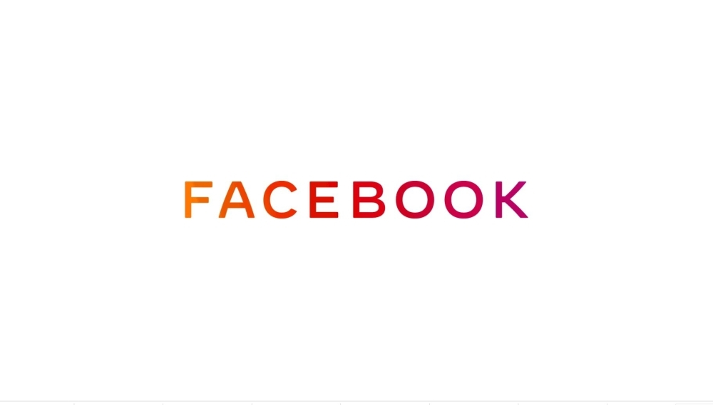 This handout image obtained on Monday courtesy of Facebook shows the new company logo for Facebook. — AFP