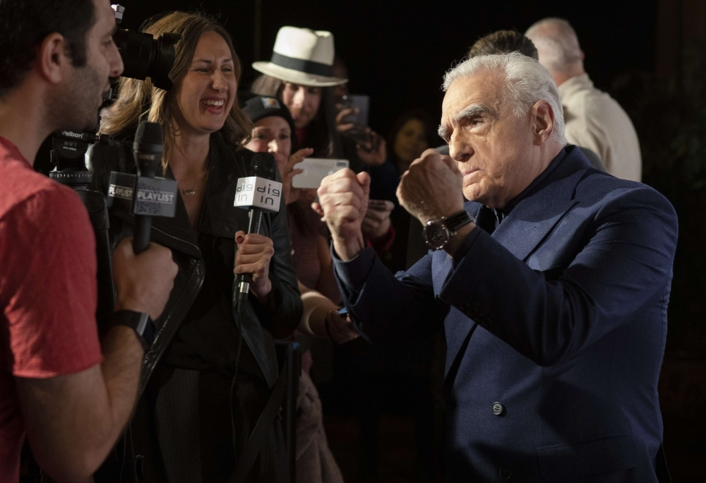 Martin Scorsese jokes with journalists at the SFFILM premiere of