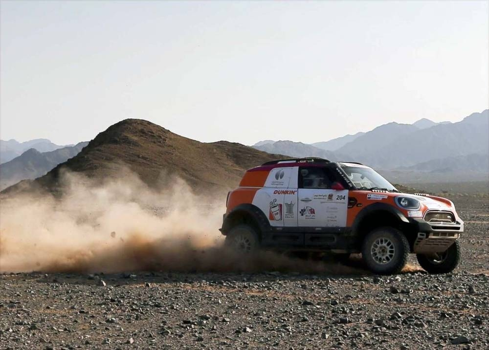 Yasir Seaidan in action in the AlUla–Neom Cross-Country Rally on Friday.