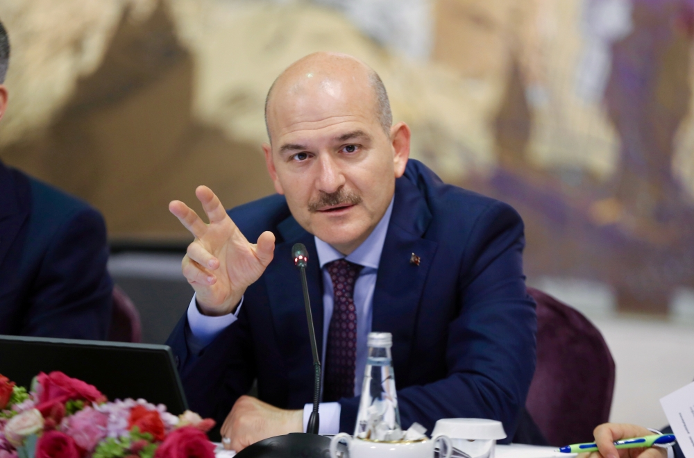 Turkish Interior Minister Suleyman Soylu speaks during a news conference for foreign media correspondents in Istanbul, Turkey, in this Aug. 21, 2019 file photo. — Reuters
