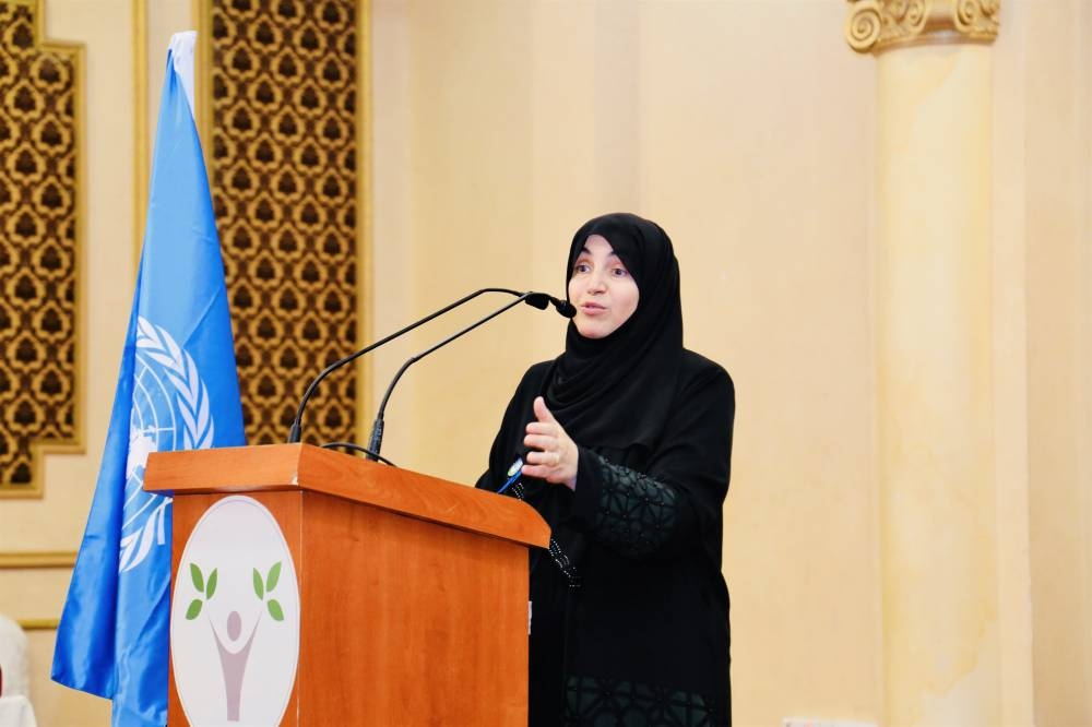 Dr. Akila Sarirete of Effat College inaugurates the Model United Nations Conference in Jeddah.