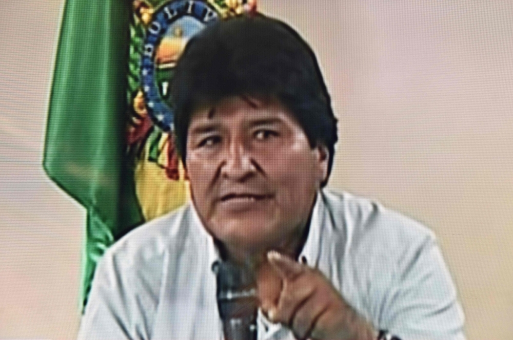 Bolivian President Evo Morales announces his resignation on November 10, 2019 in a televised address from Cochabamba, Bolivia. -AFP
