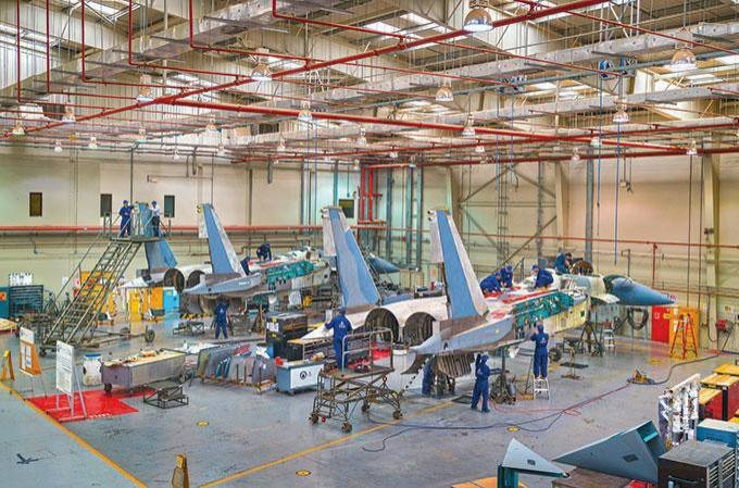 A view of the Alsalam Aerospace Industries.