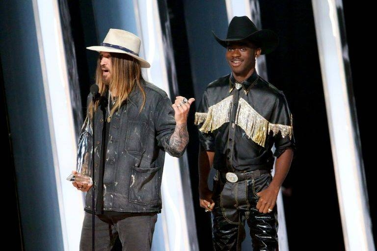2019 sensation Lil Nas X, right, along with country music veteran Billy Rae Cyrus nabbed a Country Music Award for
