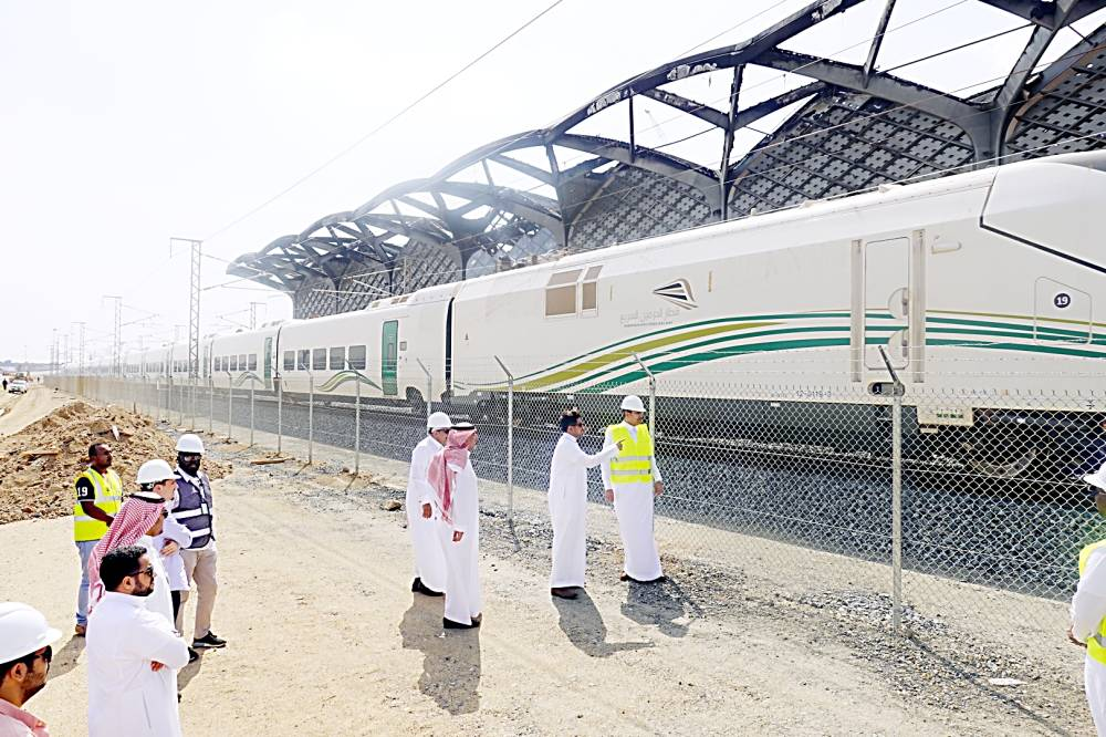 Transport minister made an inspection tour of the Haramain High-Speed Railway's Sulaimaniyah station. SPA