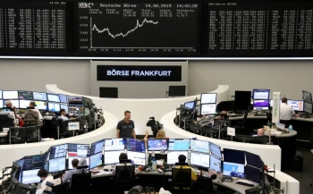 The German share price index DAX graph is pictured at the stock exchange in Frankfurt, Germany, in this Aug.19, 2019 file picture. — Courtesy photo