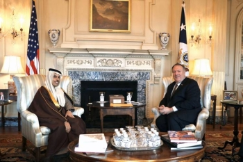 Foreign Minister Prince Faisal Bin Farhan and US Secretary of state Michael Pompeo met on Wednesday in Washongton, where they discussed the long-established Saudi-US strategic partnership.