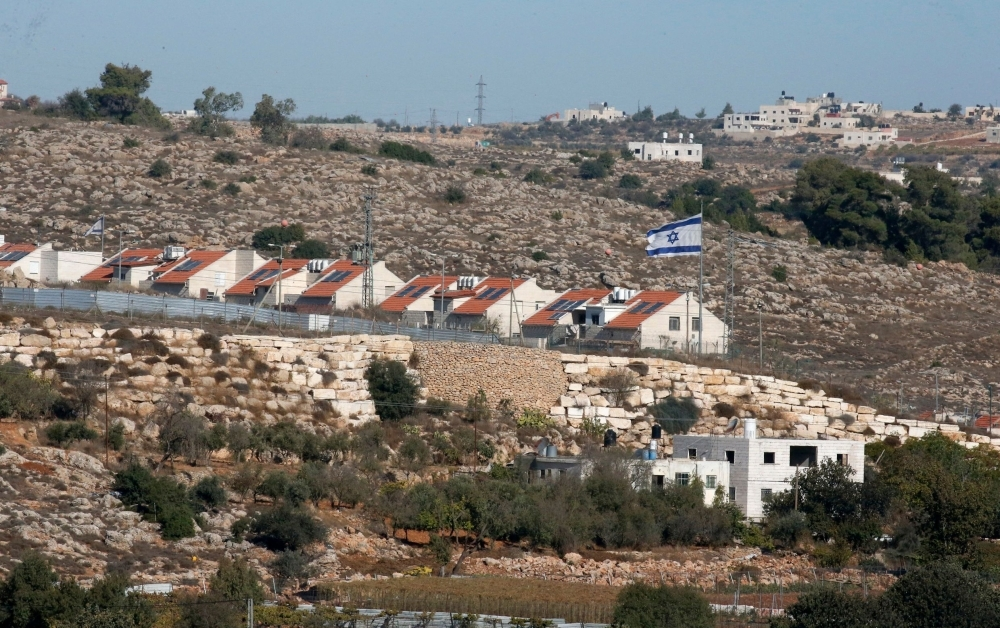 The Israeli settlement of Kyryat Arba in pictured in the occupied West Bank near the Palestinian town of Hebron on Tuesday. — AFP