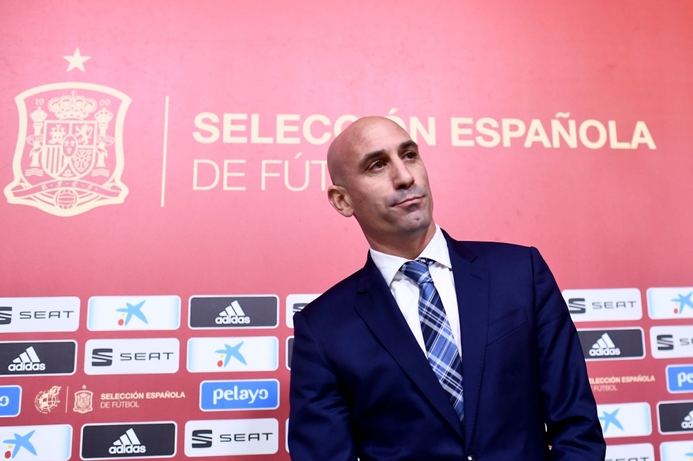 Spanish Royal Football Federation (RFEF) president Luis Rubiales gives a press conference at Las Rozas football sports city near Madrid, on Tuesday. Luis Enrique will return as coach of Spain and replace Robert Moreno ahead of Euro 2020, the Spanish Football Federation (RFEF) confirmed on Tuesday. — AFP
