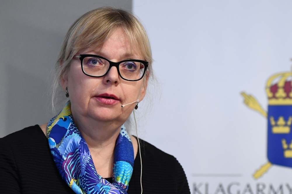 Deputy Director of Public Prosecution, Eva-Marie Persson speaks during a press conference on the development of the case of WikiLeaks founder Julian Assange in Stockholm on Tuesday. — AFP