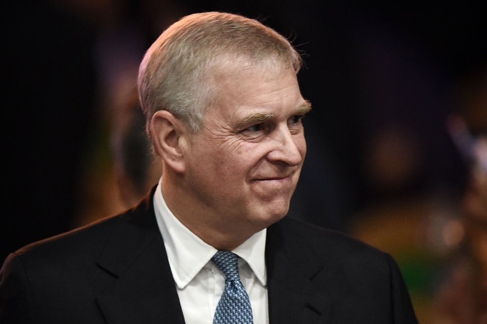 Britain's Prince Andrew, Duke of York, leaves after speaking at the ASEAN Business and Investment Summit in Bangkok in this Nov. 3, 2019 file photo. — AFP