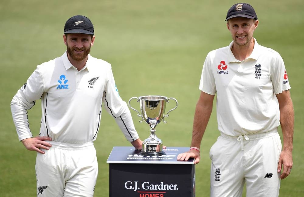 New Zealand's Captain Kane Williamson and England's Captain Joe Root. — Courtesy photo