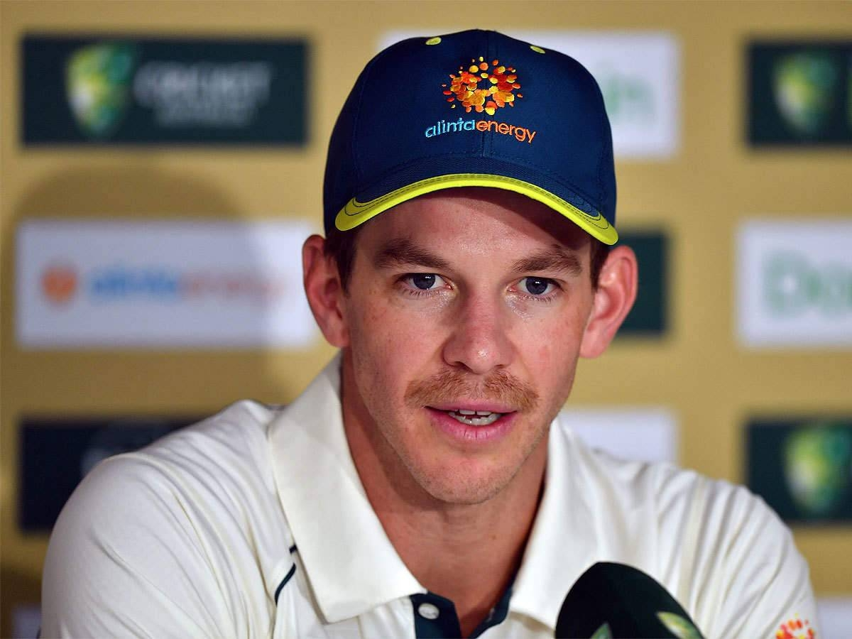Tim Paine attends a press conference in Brisbane, Australia. — Courtesy photo