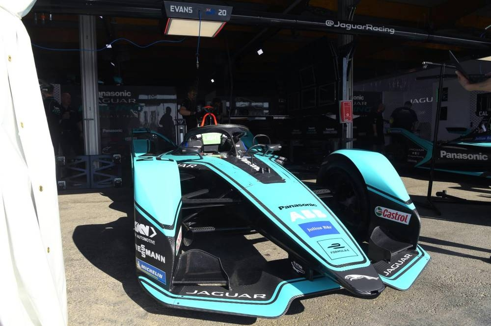 The Formula E car gears up for the ABB FIA Formula E Championship Friday in the historic Diriyah Circuit