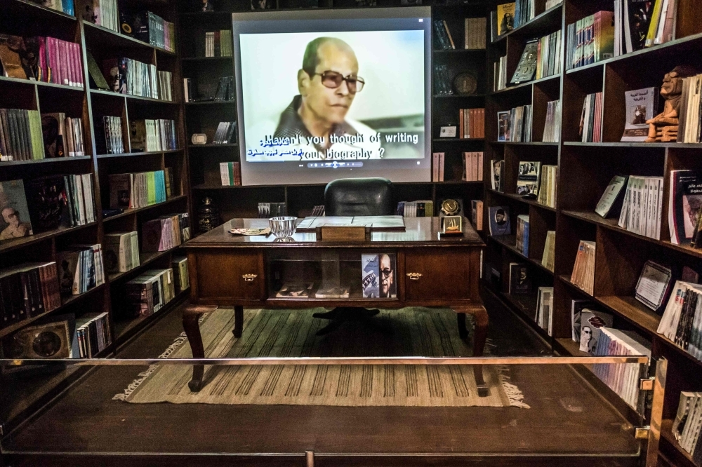 The desk of Egyptian novelist and Nobel prize winner Naguib Mahfouz is displayed at his museum at Al-Azhar district in the heart of the capital Cairo in this Nov. 7, 2019 file photo. — AFP