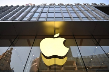 An Apple logo is displayed at store in Shanghai in this May 10, 2019 file photo. — AFP