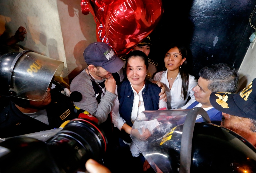 Corruption / Peruvian opposition leader released from jail