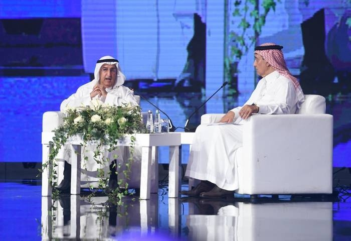 Fahd Al-Mubarak, minister of state, member of the Supreme Committee and the Preparatory Committee for the Kingdom's hosting of the G20 Summit, at the Saudi Media Forum in Riyadh on Monday.