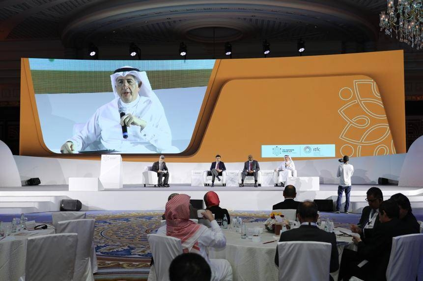 A panel discuss at the ITFC Partners Summit in Jeddah on Wednesady.