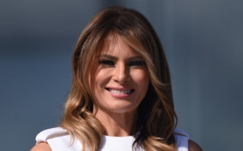 US First Lady Melania Trump attends the reopening of the Washington Monument on the National Mall in Washington in this Sept. 19, 2019 file photo. — AFP
