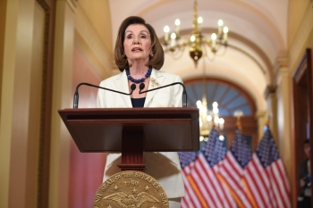 US Speaker of the House Nancy Pelosi speaks about the impeachment inquiry of US President Donald Trump at the US Capitol in Washington on Thursday. — AFP