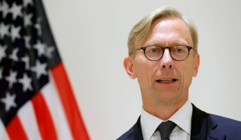 Brian Hook, U.S. Special Representative for Iran, speaks at a news conference in London, Britain June 28, 2019. REUTERS/Simon Dawson - RC1B15C08920