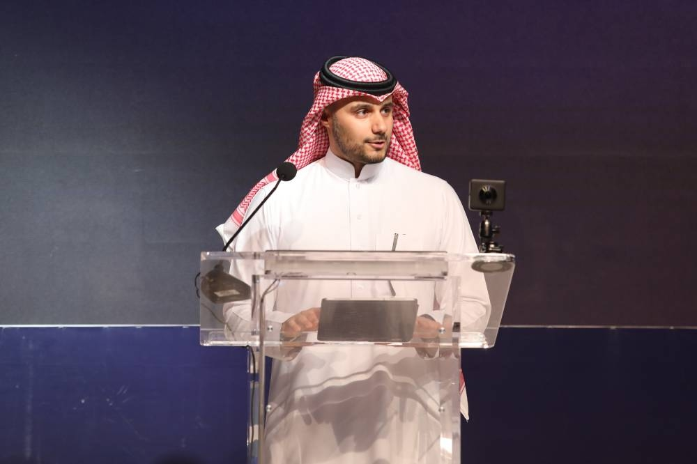 Prince Khaled Bin Alwaleed, president Saudi Sports for All Federation, speaking at the conference.