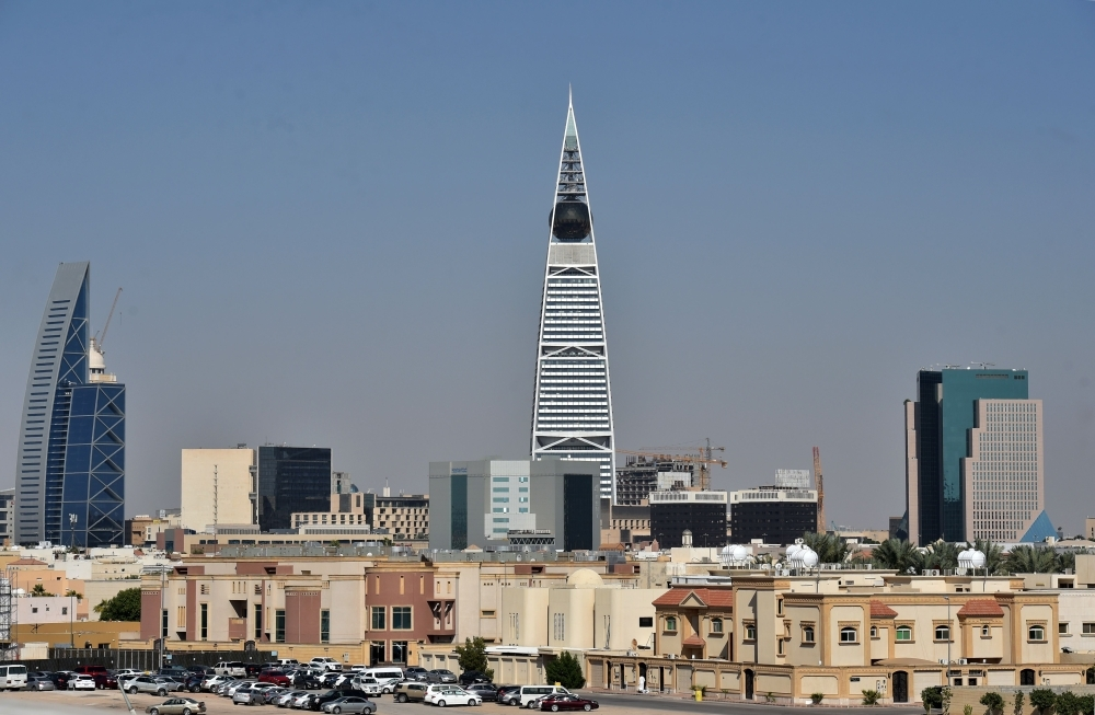 The Faisaliya tower stands among other buildings in the Saudi capital Riyadh on Dec.5, 2019. — AFP