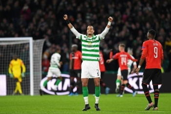 Christopher Jullien scored the only goal as Celtic beat Rangers 1-0 in the Scottish League Cup final. — AFP