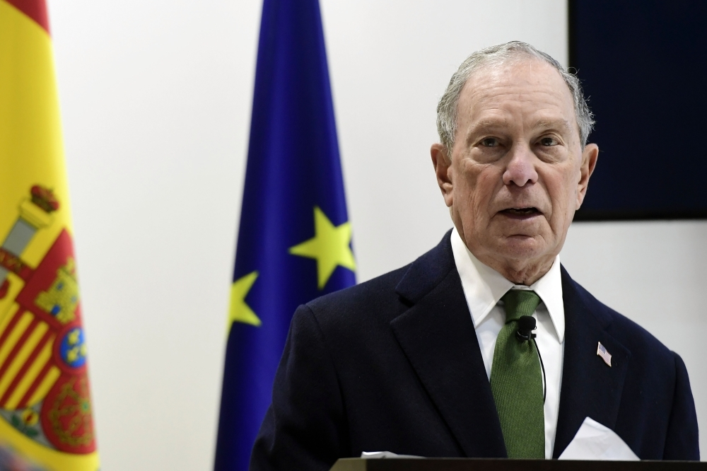 Democratic presidential hopeful Michael Bloomberg speaks during an event on sustainable finance within the UN Climate Change Conference COP25 at the 'IFEMA - Feria de Madrid' exhibition centre, in Madrid, on Tuesday. — AFP