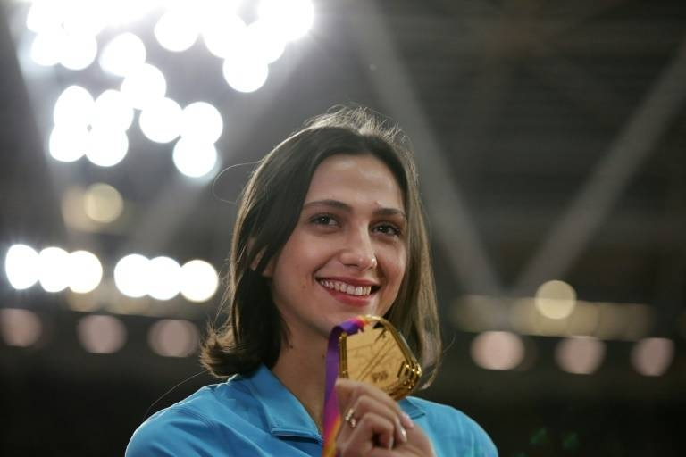 Mariya Lasitskene has won three world titles. — AFP