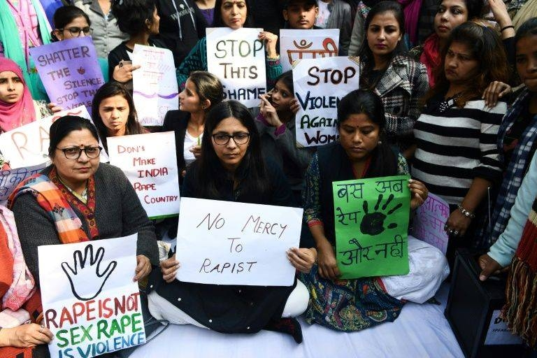 Hundreds of protesters gather in New Delhi, demanding speedier punishments for rapists in this Dec. 3 2019 file photo. — AFP