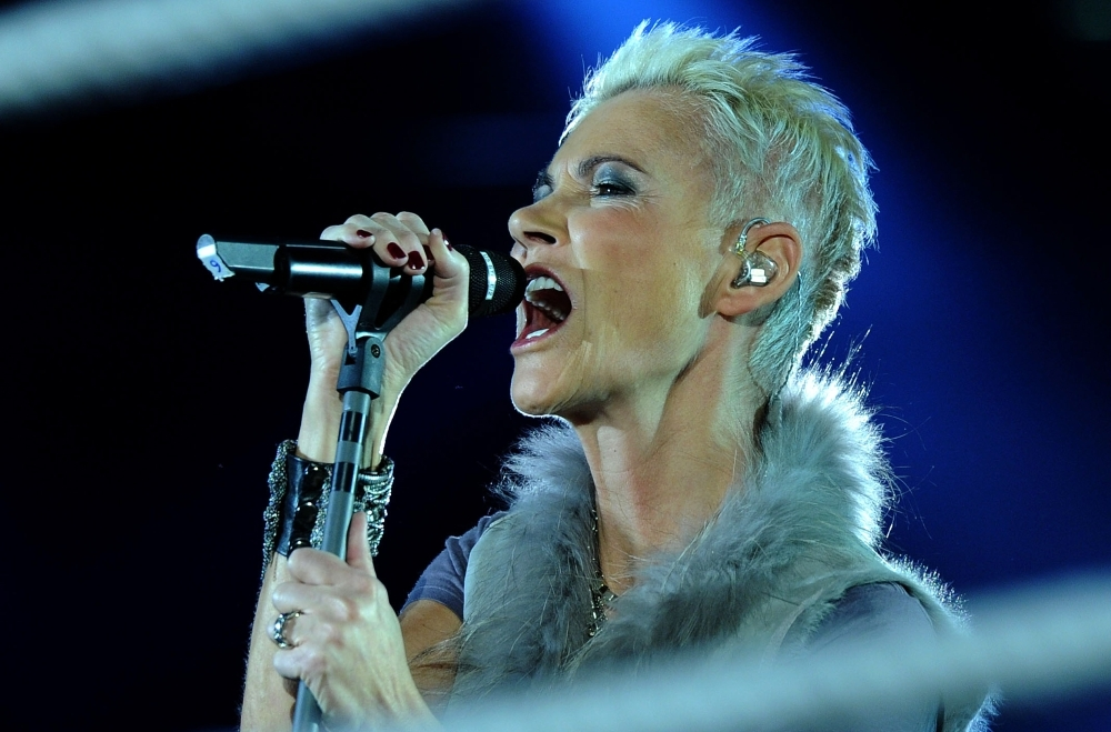 Swedish singer Marie Fredriksson of the pop group Roxette performs in Cologne, western Germany, in this March 19, 2011 file photo. — AFP