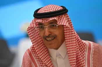 Saudi Arabia's Minister of Finance Mohammed Al-Jadaan during the Kingdom's Budget 2020 Forum in Riyadh on Tuesday.