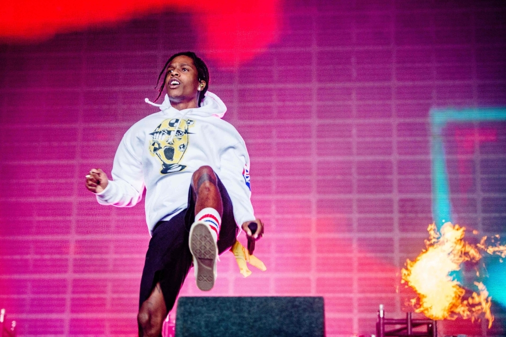 US rapper ASAP Rocky performs during the Lowlands music festival in Biddinghuizen, Netherlands, in this Aug. 18, 2019 file photo. — AFP