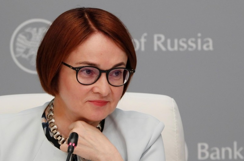 Russian Central Bank Governor Elvira Nabiullina attends a news conference in Moscow in June 14, 2019 file picture. — Courtesy photo