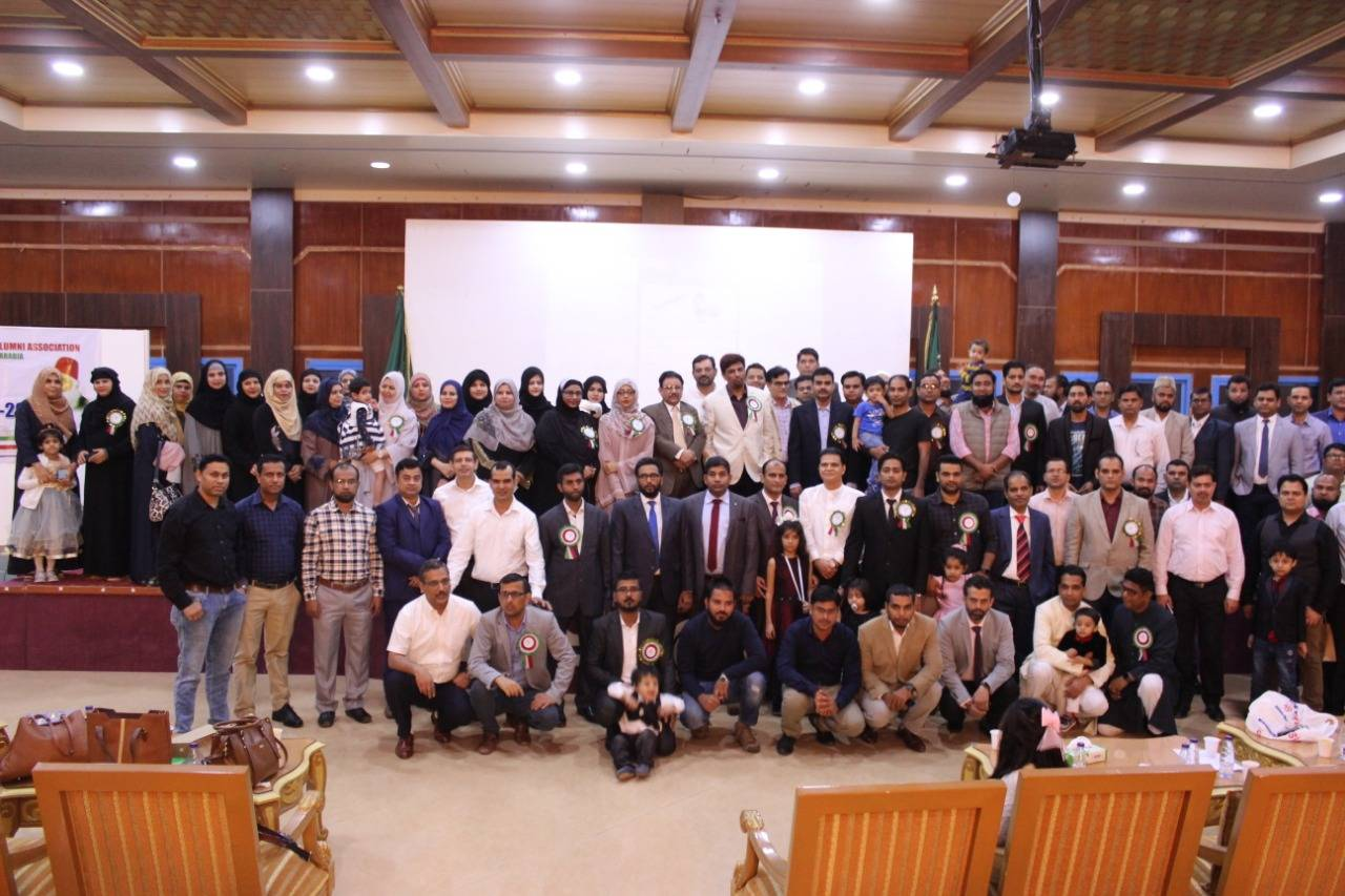 Group photo of participants in the Sir Syed Day-Jazan event.